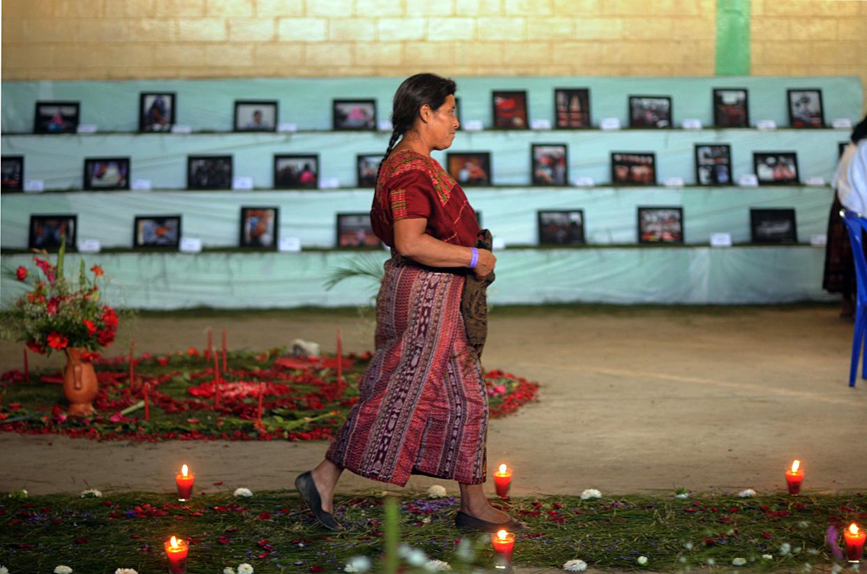 Una de las sobrevivientes que asistieron al Encuentro. Muchas no sabían que en otras comunidades otras mujeres también habían sufrido los efectos de la guerra.