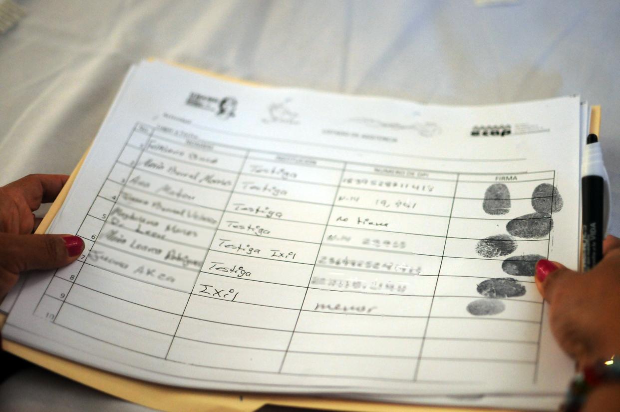 Las participantes han sido testigos en diferentes procesos, la mayoría de ellas no saben leer ni escribir.