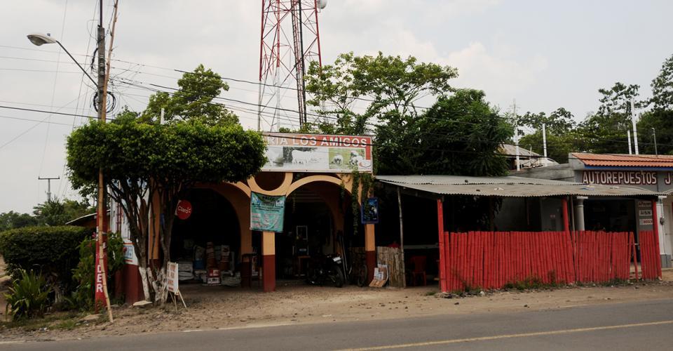 Una de las direcciones registradas a nombre de la empresa Corpogold S.A., ubicada en La Máquina, Suchitepequez.
