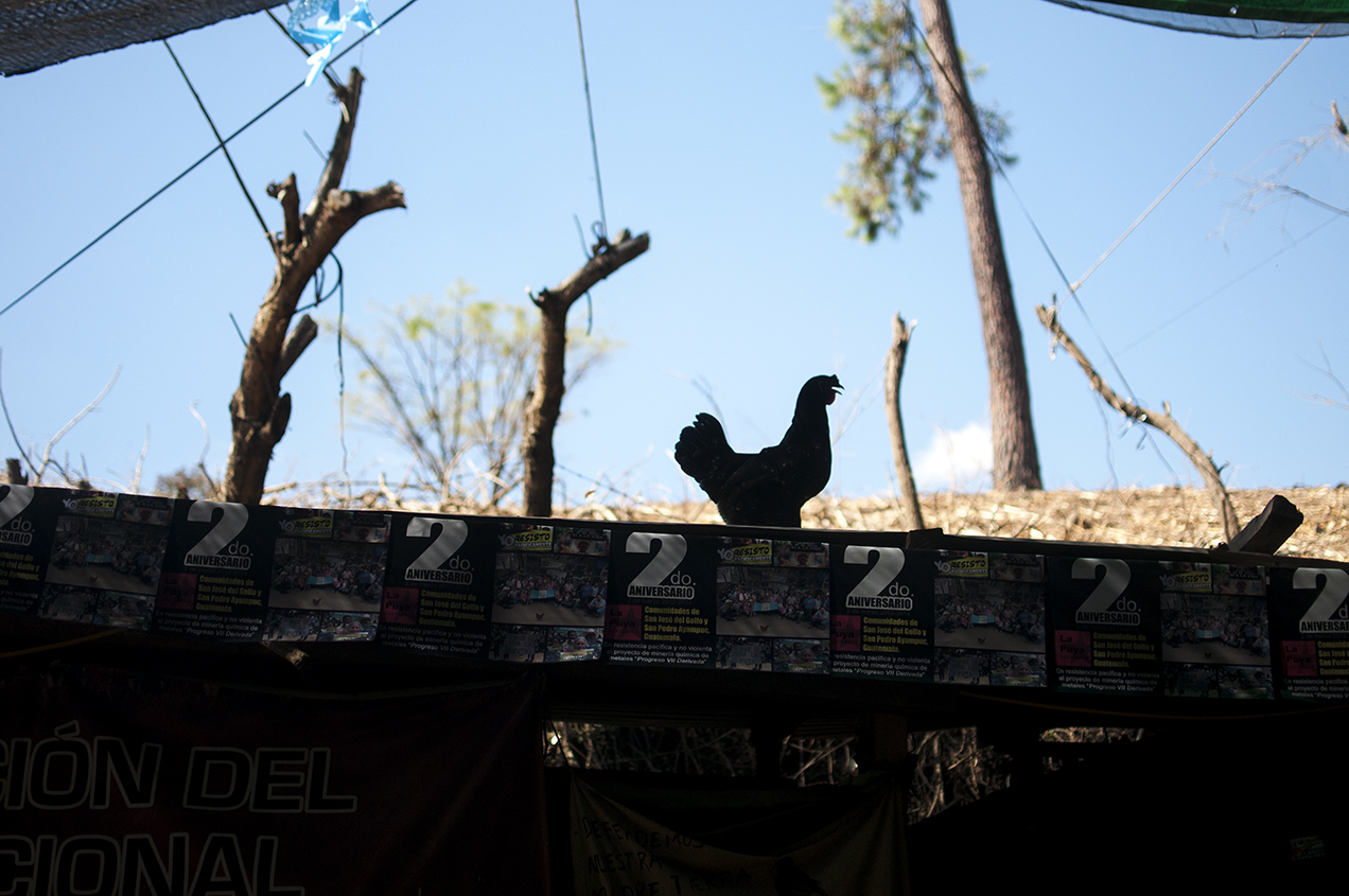 El campamento es el equivalente a la casa de quienes resisten en La Puya. Ahí comen y duermen quienes hacen turno.