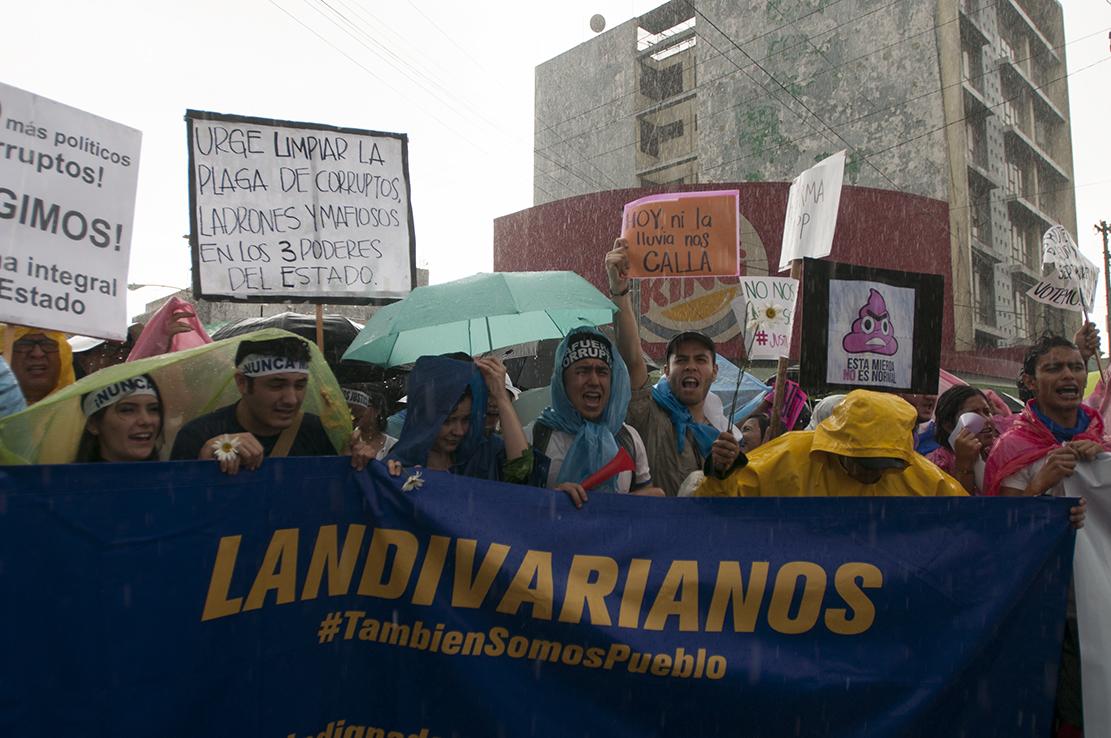 Estudiantes de la Universidad Rafael Landivar.