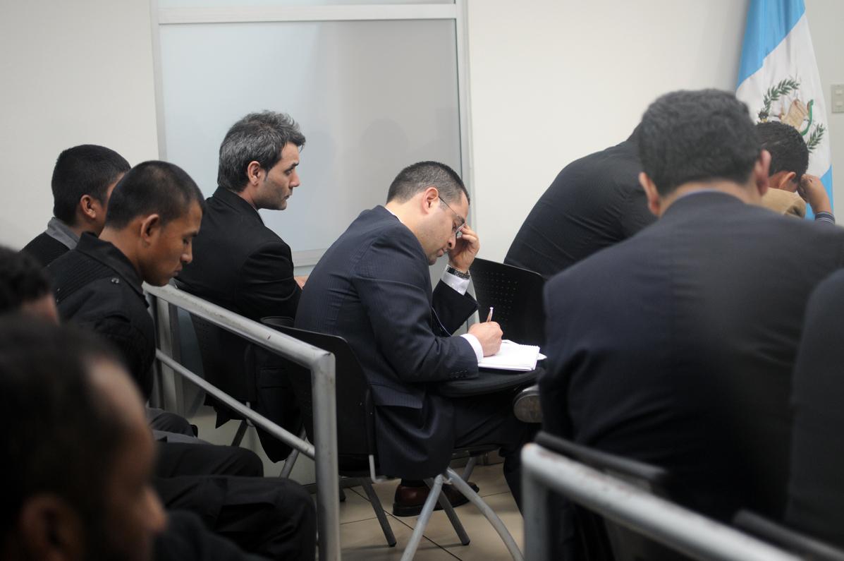 Miembros de la CICIG estuvieron presentes en la audiencia.