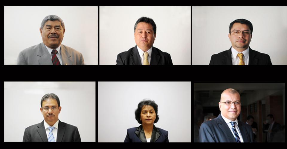 Carlos Mencos, Sergio Pérez, César Elías Ajcá, Hugo Chacón, Telma Girón y Carlos Echeverría son los seis nombres que conocerá el Congreso.