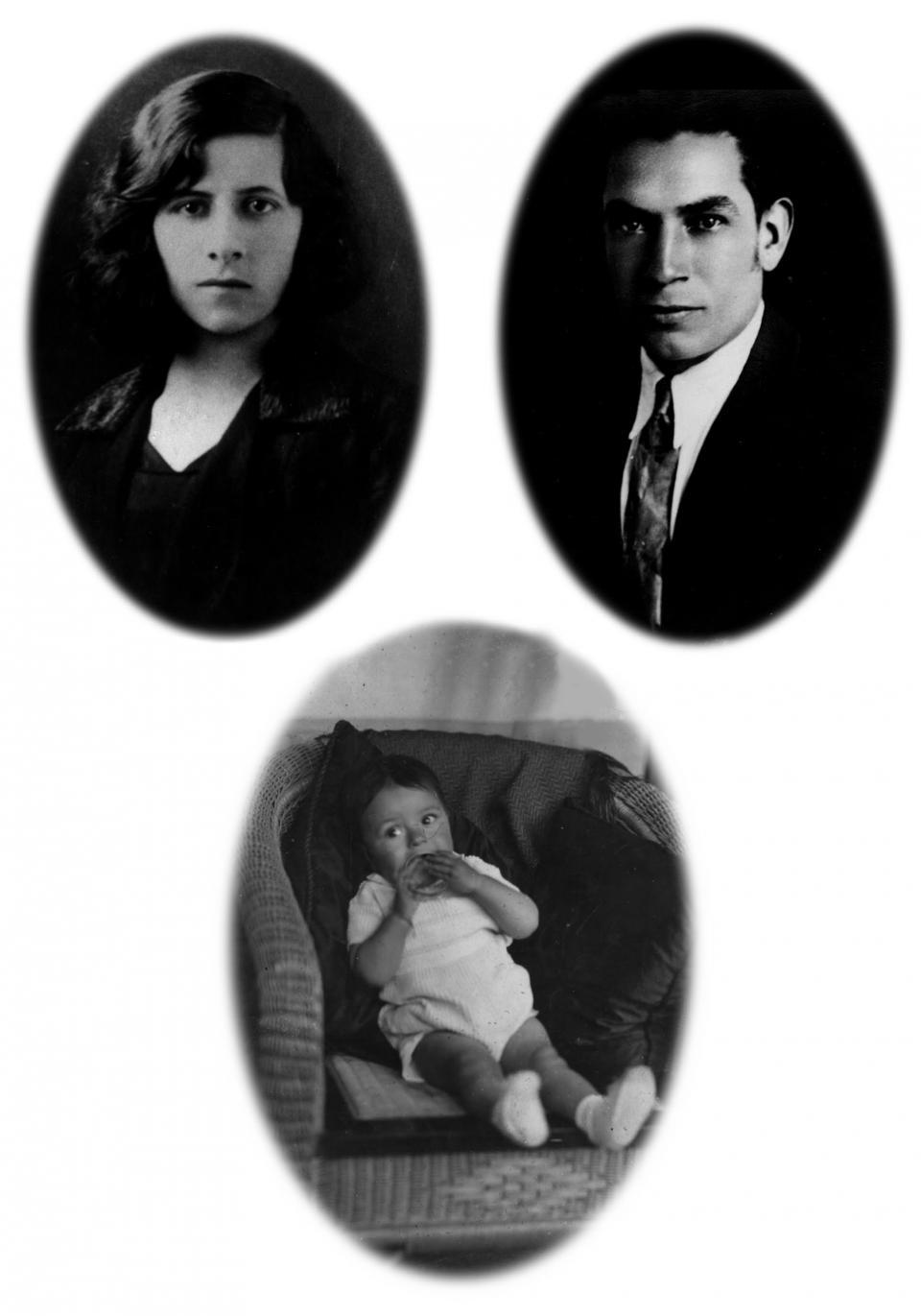 Luis Alfedo Arango y sus padres.