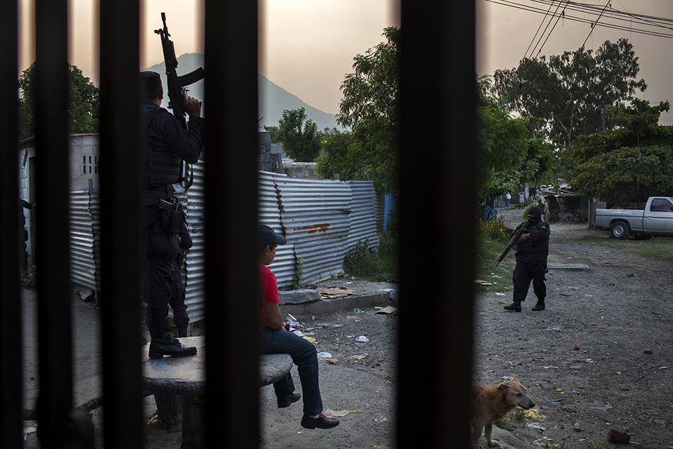 El operativo de las fuerzas especiales de la polícia
