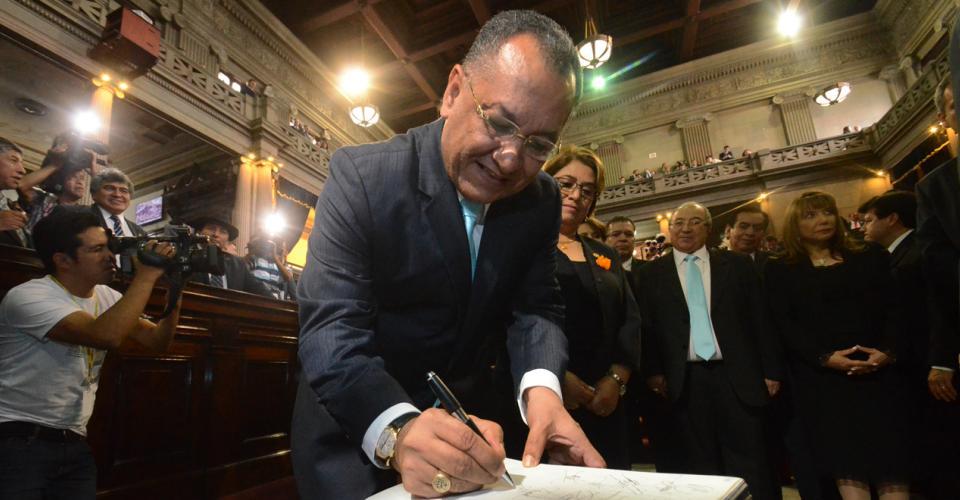 Arístides Crespo, presidente del Congreso de la República. Foto: Antonio Castro