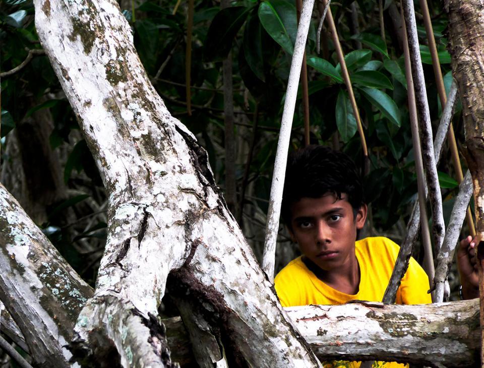 """""""En el Manchón todos somos familia y todos vivimos del mangle"""", dice Víctor."""