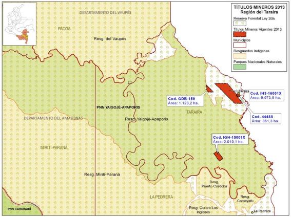 Mapa de títulos Cosigo Resources