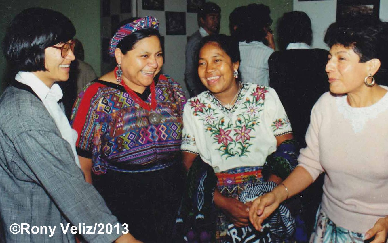 Hellen Mack, Rigoberta Menchú, Rosalina Tuyuc y Nineth Montenegro.