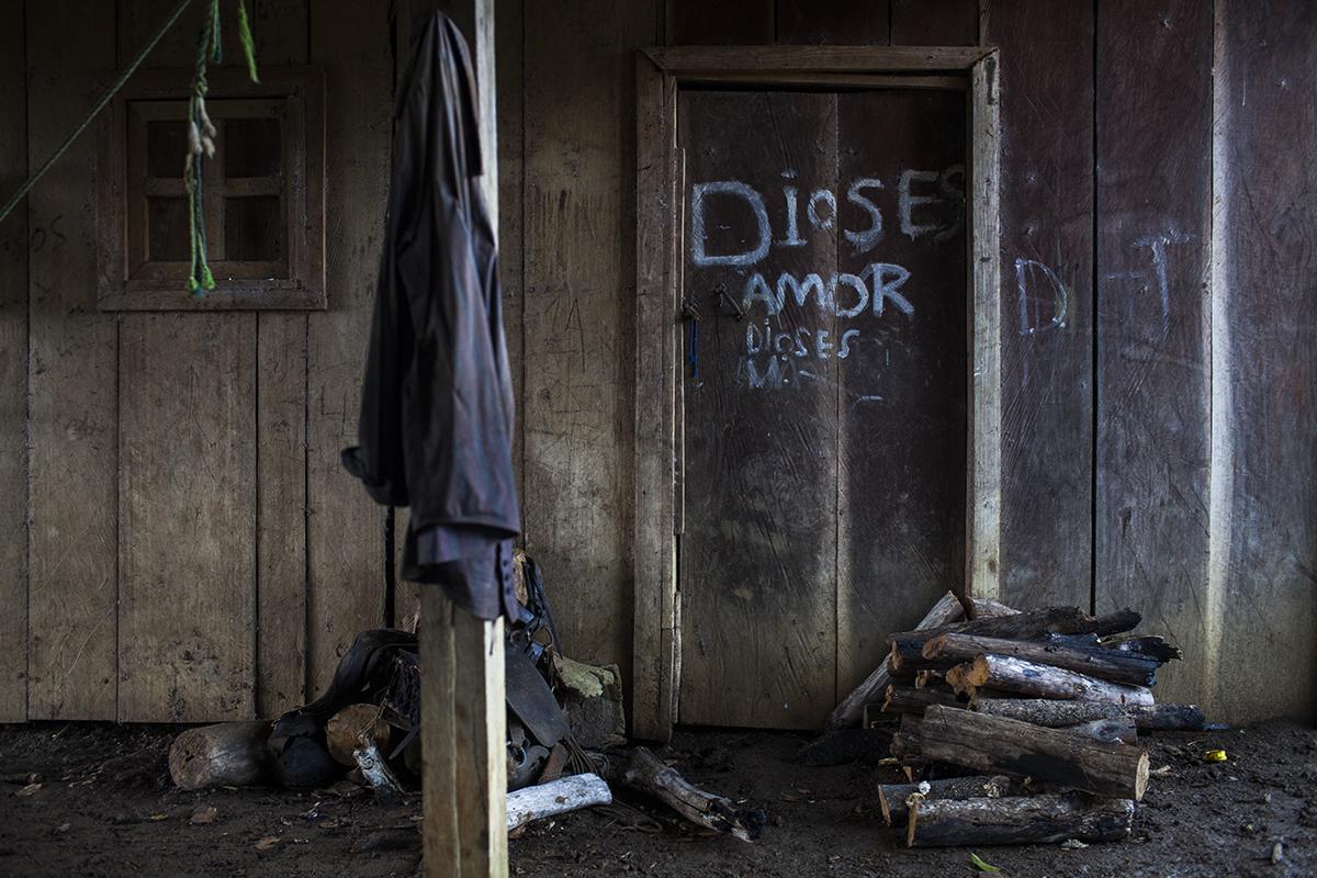 La puerta de la casa de René Rodríguez.