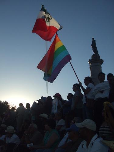 El acto en Ciudad Juárez donde en junio de 2011 el movimiento ciudadano selló el pacto para promover la ley de víctimas  Crédito: Daniela Pastrana /IPS