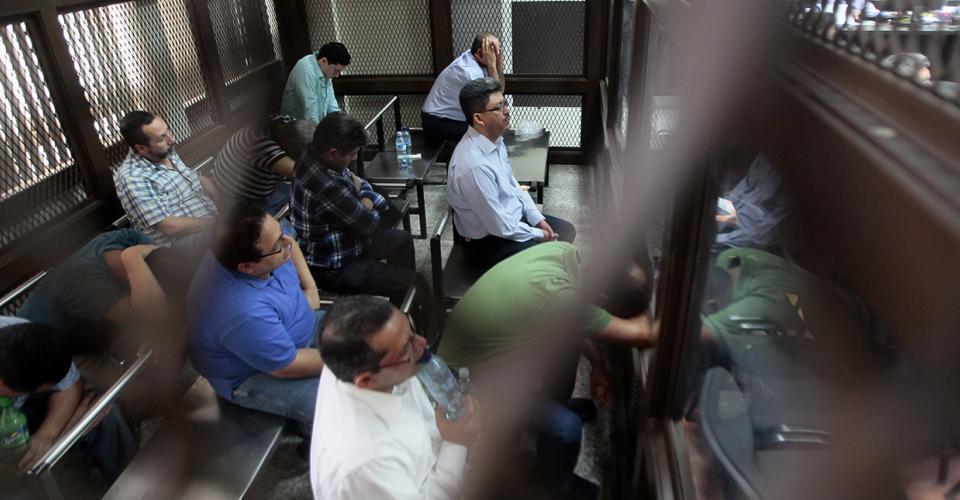 """Los capturados del caso """"La Línea"""" en audiencia ante el juez."""