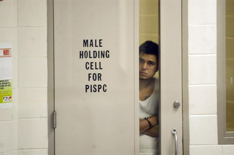 Un migrante detenido en la frontera de EEUU.