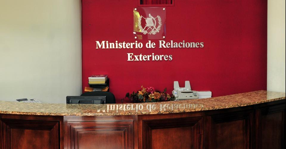 Interior del Ministerio de Relaciones Exteriores.