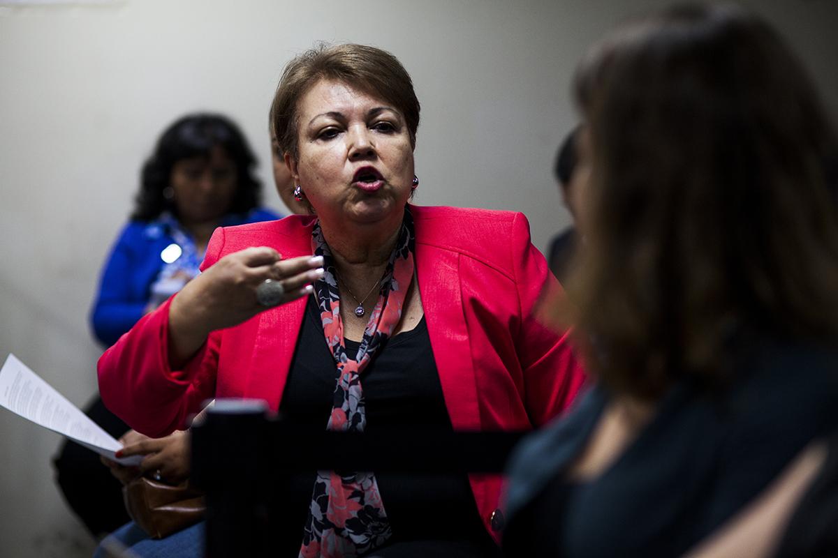La esposa de Hugo Ramiro Zaldaña Rojas, anima la polémica en contra de una  observadora de derechos humanos durante la audiencia final de la etapa intermedia.