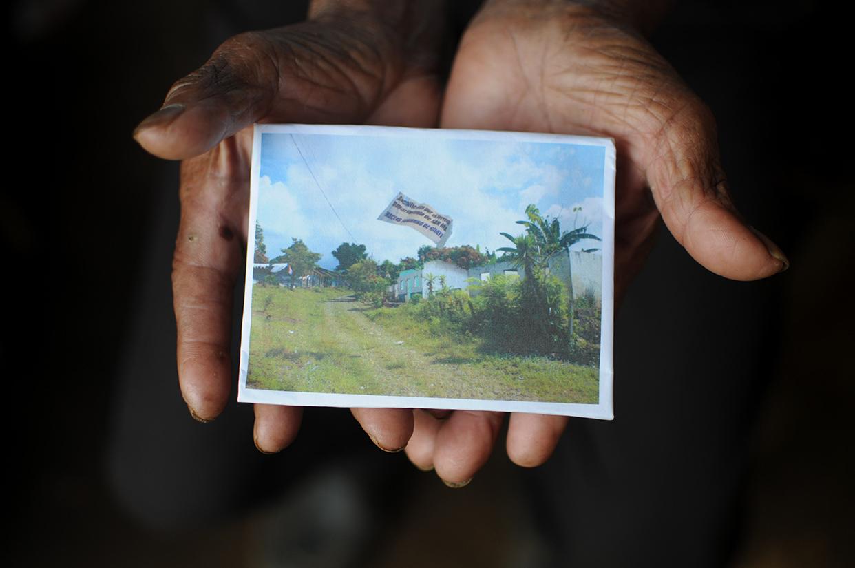 En la memoria y en una hoja de papel quedaron grabadas las casas donde habitaron por muchos años.