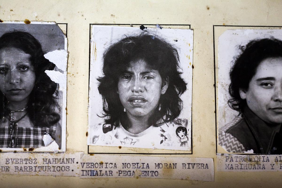 Verónica Noelia Morán Rivera, detenida por inhalar pegamento