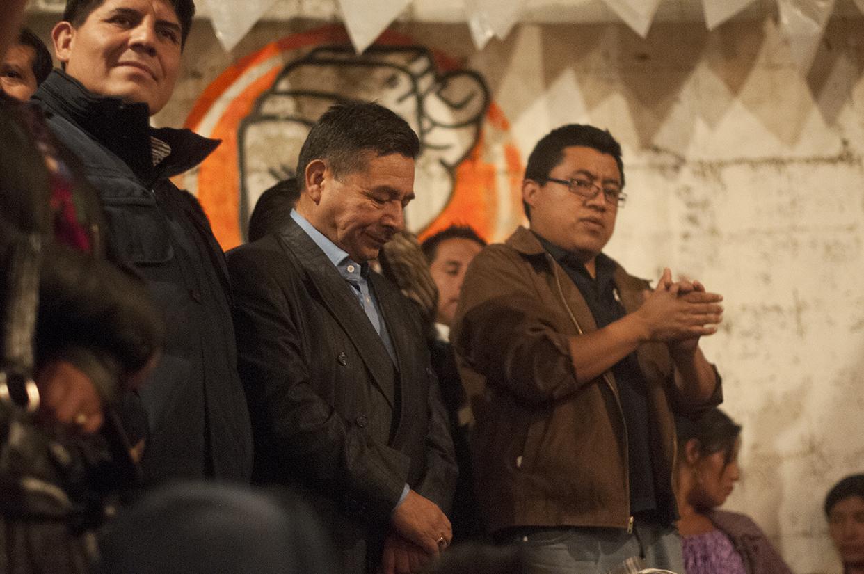 El oficialista Virgilio Gerónimo reconoció la derrota en la sede del partido donde esperó los resultados del Tribunal Supremo Electoral.
