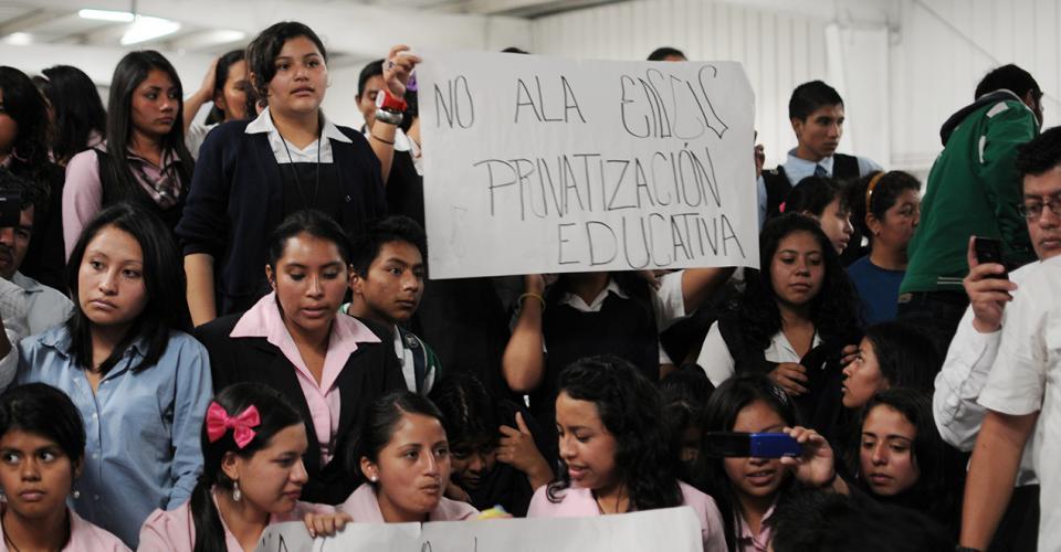 Para los estudiantes la reforma educativa era la privatización de la educación.