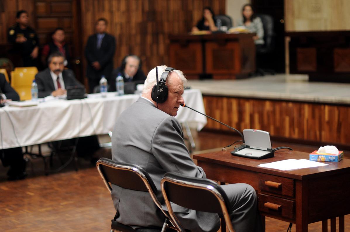 Harris Whitbeck fue testigo de Ríos Montt en el juicio por genocidio.