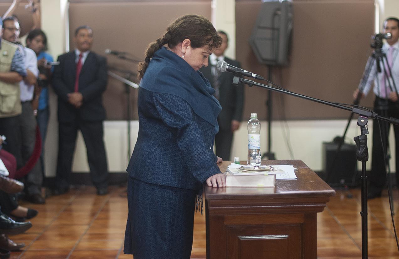 Aunque inconforme con el fallo de la CC, Claudia Paz y Paz no se da por vencida. Busca su reelección como Fiscal General.