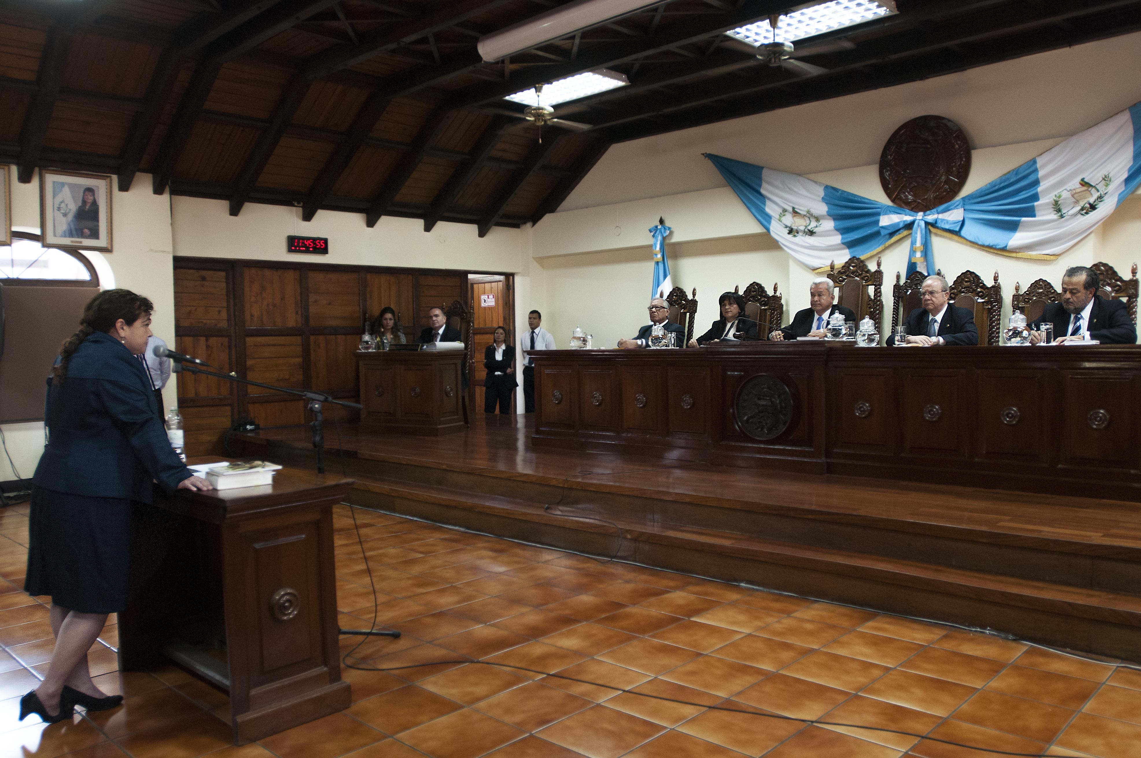 Claudia Paz y Paz argumentó ante los magistrados de la Corte de Constitucionalidad que su plazo vencía hasta diciembre de este año.