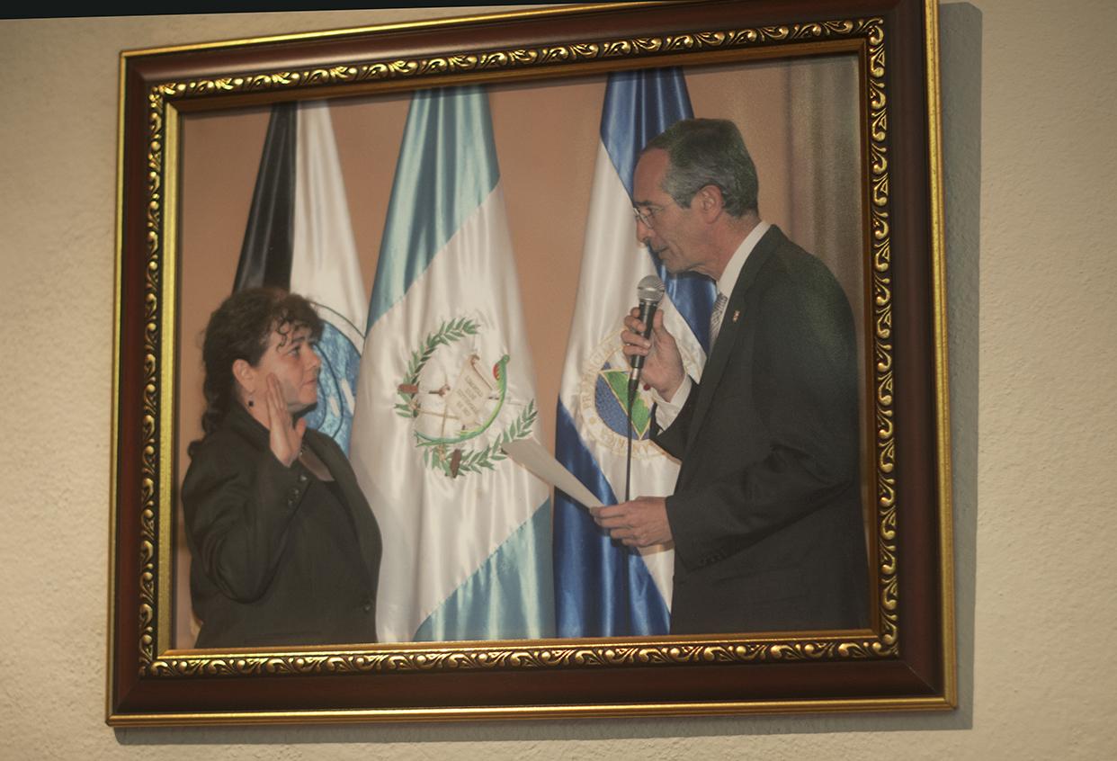 La juramentación de Claudia Paz y Paz, Fiscal General y Jefa del Ministerio Público.