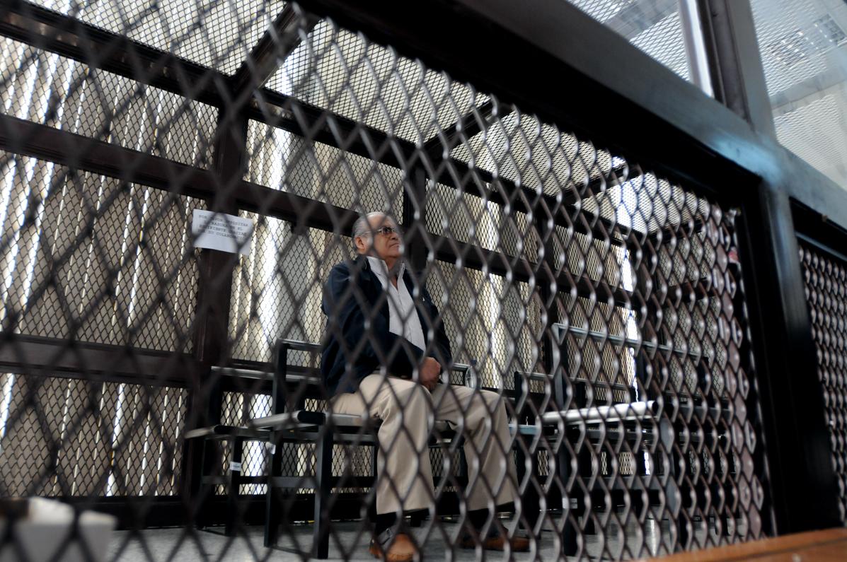 Pedro García Arredondo durante una audiencia en la Torre de Tribunales.