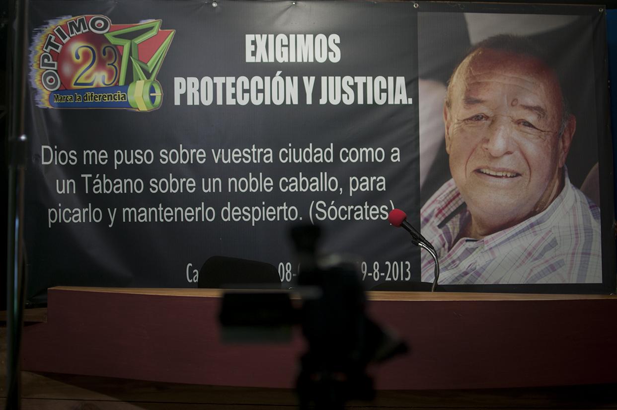El periodista Carlos Alberto Orellana Chávez fue asesinado el 19 de agosto de 2013.