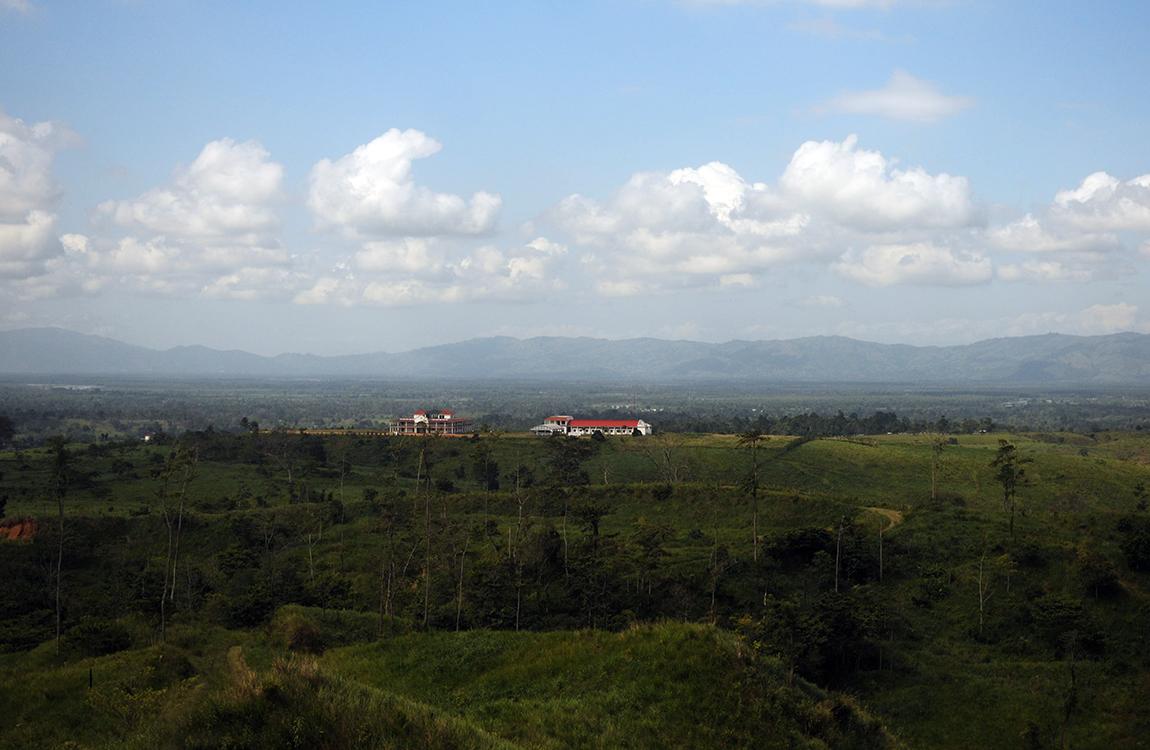 Desde la finca de Mario Ponce se puede apreciar la vista que abarca las aldeas Los cerritos, Playitas, y Morales.