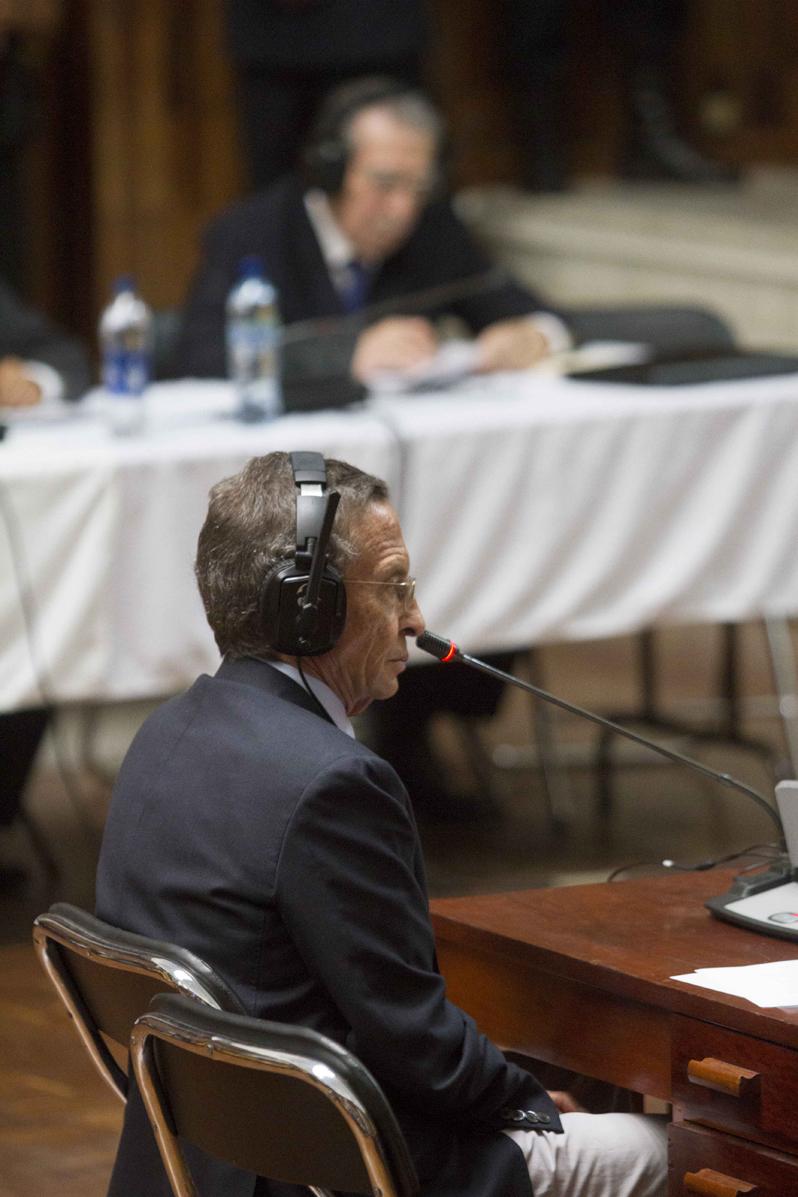 """La defensa propuso a Porras como testigo a favor del general Ríos Montt. """"Su testimonio es evidencia de que el liderazgo del general es reconocido por personalidades de izquierda"""", fue el argumento. Foto de Luis Echeverría"""