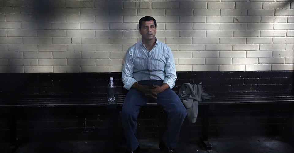 Héctor Manuel López Ambrosio, en la carceleta de la Torre de Tribunales.