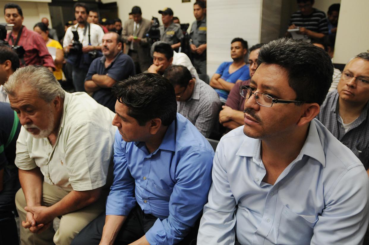 Los capturados en el caso de defraudación tributaria.