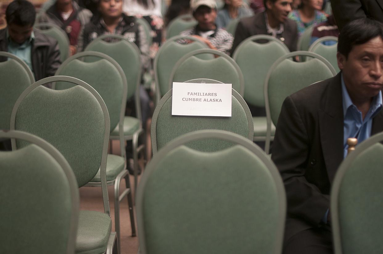 Los familiares de las víctimas que fueron asesinados en la Cumbre de Alaska, el 4 de octubre de 2012, no se presentaron al acto.