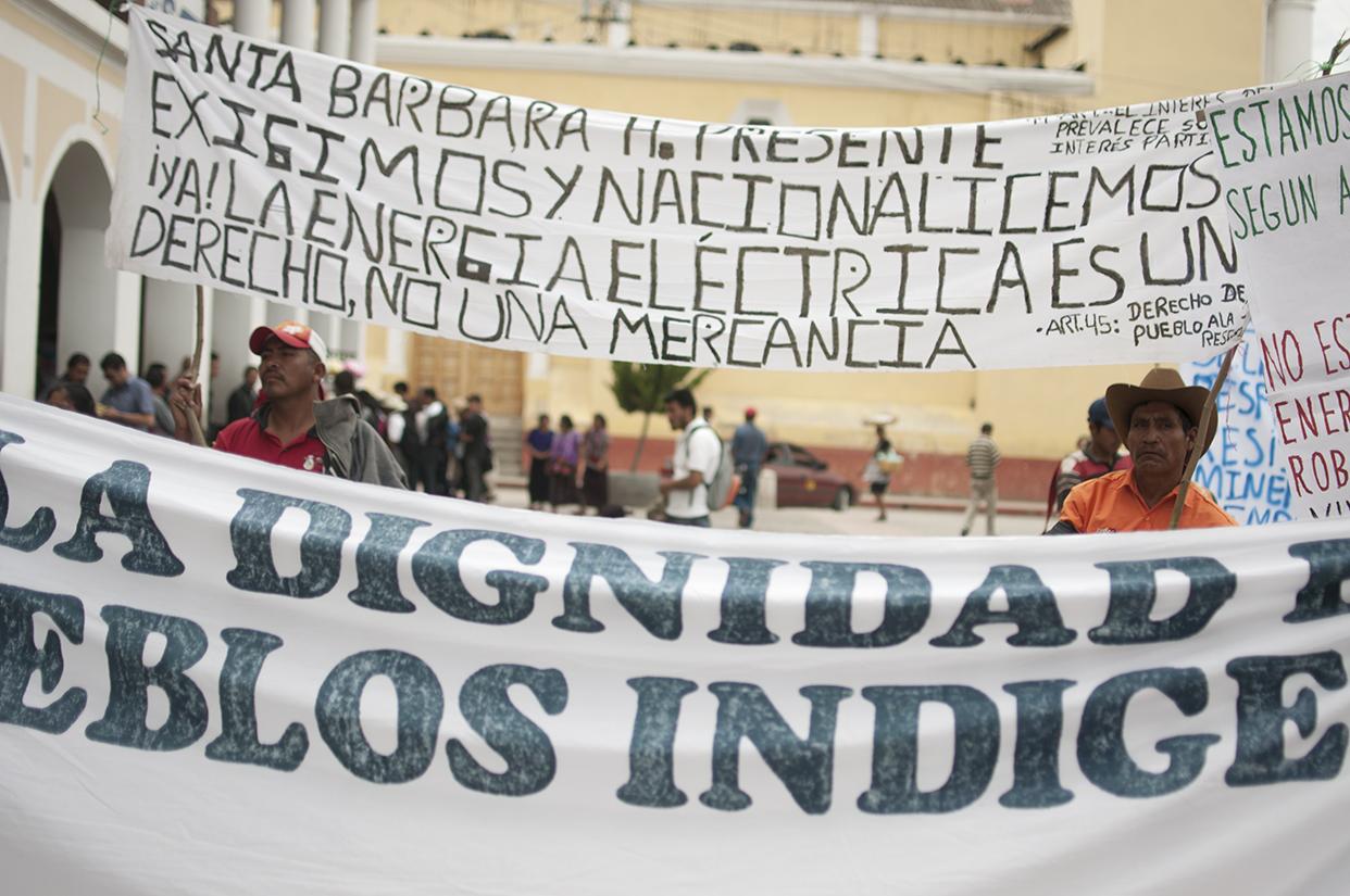 Pobladores del área rural de Huehuetenango exigían la nacionalización de la energía eléctrica.