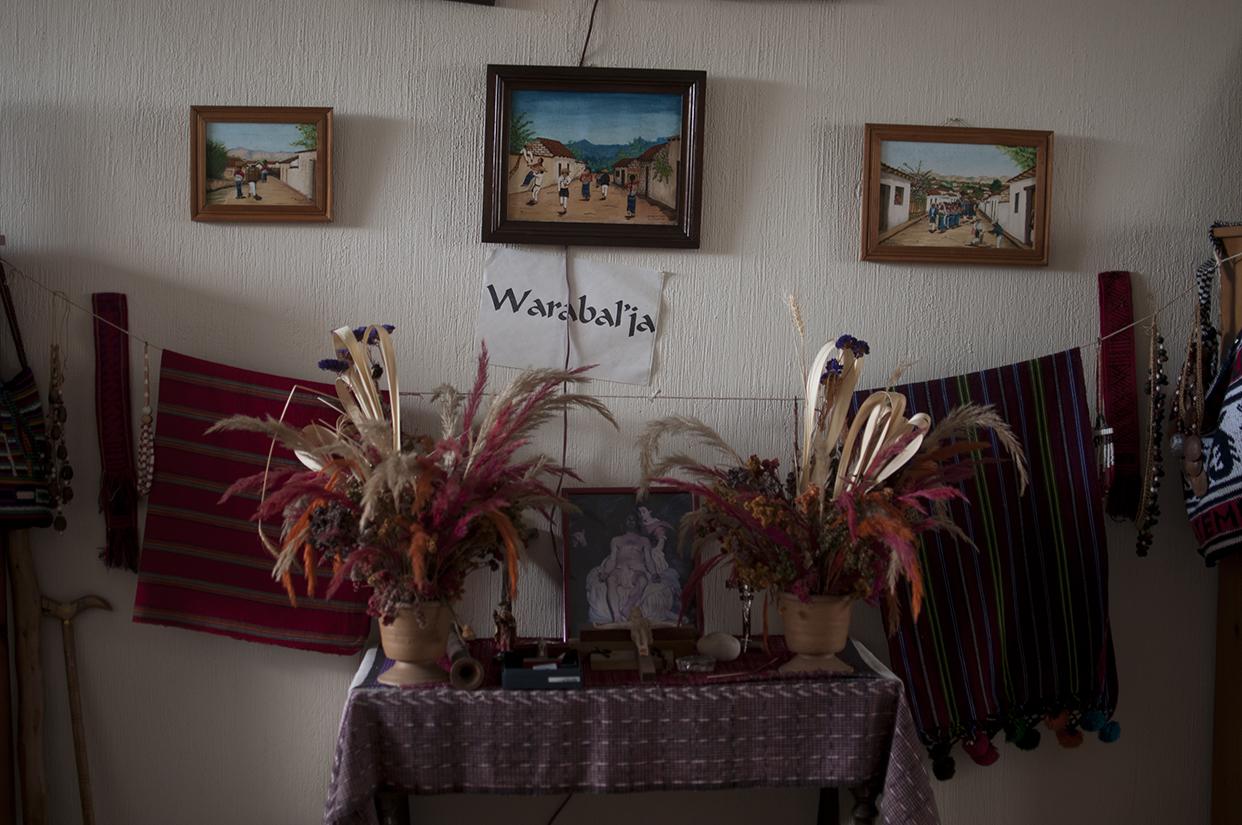 El lugar más sagrado de su casa, un  altar llamado Warabaljá.