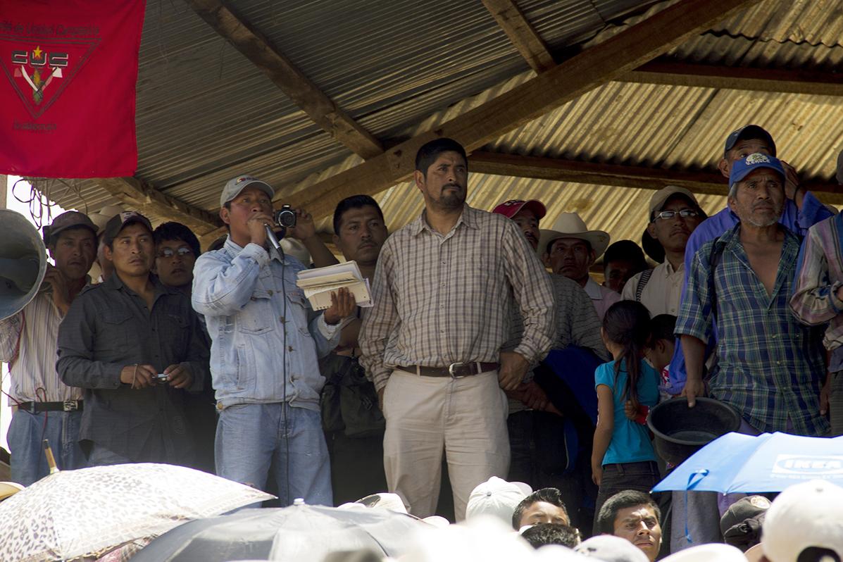 """""""Me preguntaron si era quien organizaba los ataques a la mina. Les dije que no. Y me preguntaron por los documentos de Santa María Xalapán"""""""