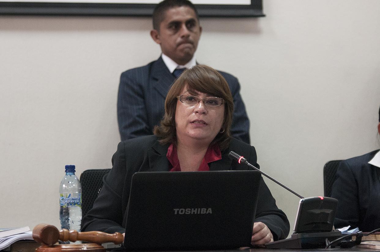 La juez presidente del tribunal B de Mayor Riesgo, Jeannette Valdés, quedó fuera del proceso. [Sandra Sebastián]