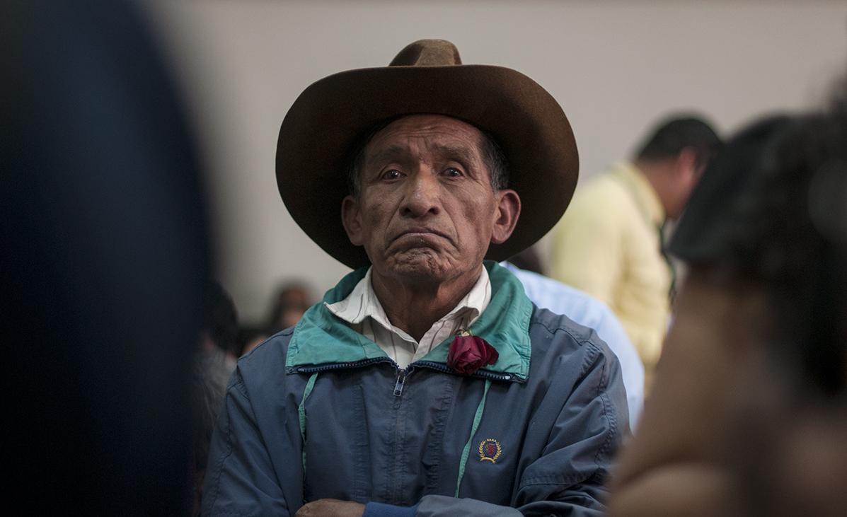 Algunos Ixiles estuvieron presentes en la audiencia. [Sandra Sebastián]