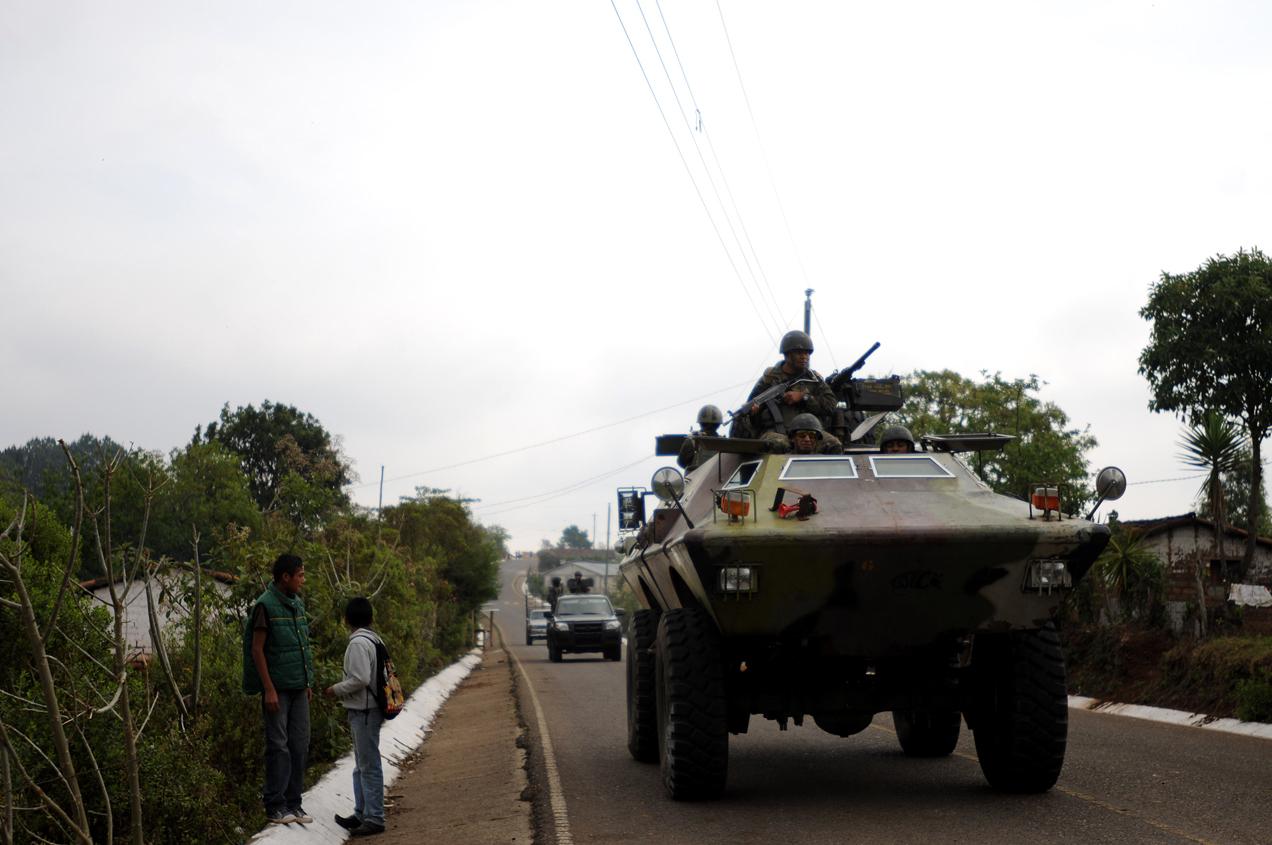El Estado movilizó al ejército y a la policía luego de los hechos violentos que arrancaron en septiembre de 2012 en el municipio de San Rafael en contra de la minería.