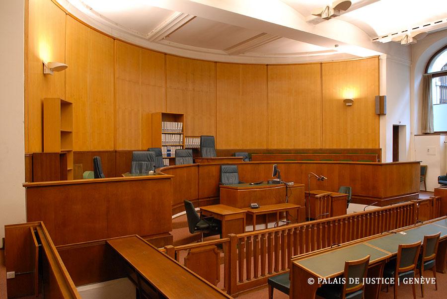El interior del palacio de justicia de Ginebra, Suiza, donde se desarrolló el juicio contra Sperissen.