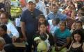 Familias completas de las comunidades de San Pedro Ayampuc y San José del Golfo asistieron al aniversario.
