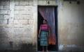 Josefa Poncio López, 45, originaria de Santa Cruz del Quiché. Lleva 11 años de trabajar en la maquila como operaria. Posa enfrente del cuarto que alquila por Q350 mensuales, donde vive sola.