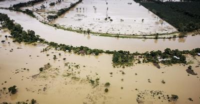 El Valle del Polochic, ubicado entre los departamentos de Alta Verapaz e Izabal, resultaba completamente inundado en una toma aérea realizada por la mañana del 06 de noviembre