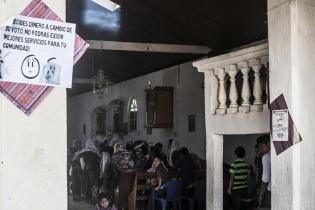 La iglesia católica de Txosunil también aconsejó a la población sobre ética electoral.