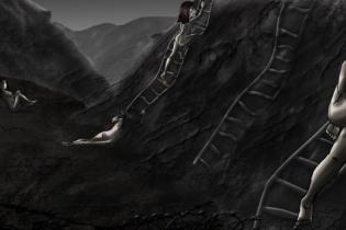 """""""Huir, escalar, caer"""", de Gaby Futch."""