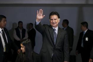 Alfonso Portillo, en marzo de 2015, recién llegado a Guatemala despúes de 20 meses de prisión en EEUU. [Sandra Sebastián]