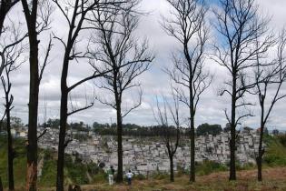 Vista panorámica de un asentamiento urbano.