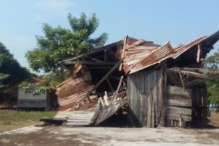 La vieja estación de Fegua en Tecún Umán, San Marcos, el sitio escogido para construir un puerto de descarga.