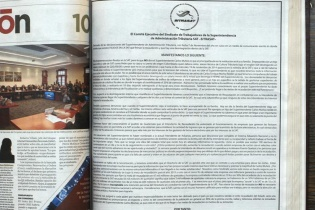 Campo Pagado del Sindicato de trabajadores de la SAT, publicado en elPeriódico el 7 de noviembre de 2014.